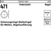 5 St/ück 45 mm Runddraht Sprengring Sicherungsring DIN 7993 Form A f/ür Welle