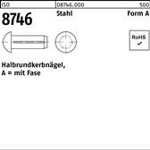 Edelstahl A1 2x 8 200 St/ück Steckkerbstifte DIN 1474//ISO 8741