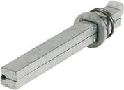 115 130 mm EDI Wechselstift Typ O verzinkt Vierkant 8 mm Länge 90