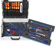 Werkzeugsortiment 40-tlg. Sort. Sanitär 2farbige Einlage in L-BOXX PROMAT