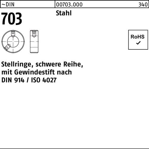 A2  d=  20 m.DIN 914 M 6x 8 25 Stück Stellringe m.Gewindestift DIN 705-G Edelst