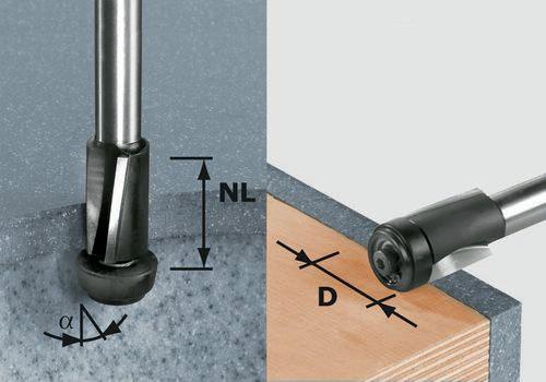 Forstnerbohrer Type 0310 D.22mm Gesamt-L.90mm Schaft-D.8mm