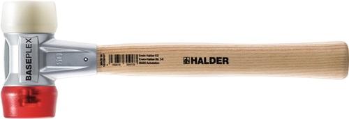 mit Gummi und Nylon-Schlagk HALDER Schonhammer Simplex mit Hickory-Stiel 80 mm