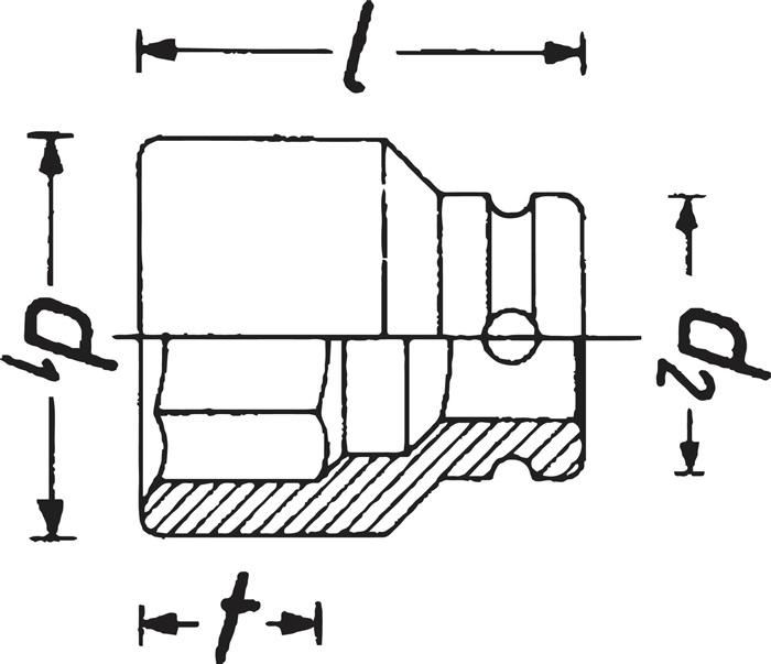 HAZET Kraft-Steckschlüssel-Satz 900SK//4 4tlg Antrieb 1//2Zoll phosphatiert Ab...