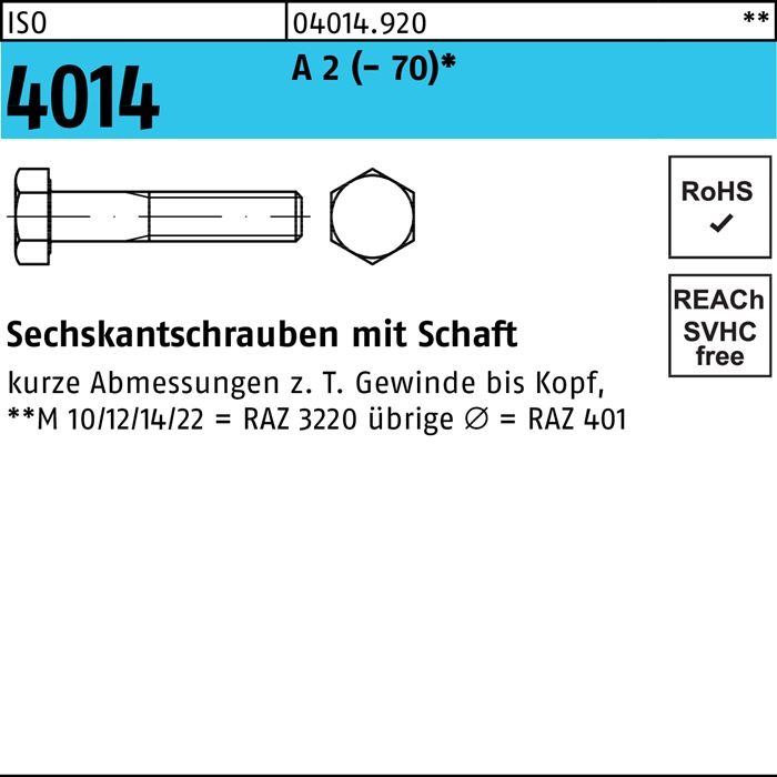 Eisenwaren2000 M16 x 150 mm Sechskantschrauben mit Schaft 10 St/ück Gewindeschrauben - DIN 931 Edelstahl A2 V2A Maschinenschrauben mit Teilgewinde rostfrei ISO 4014