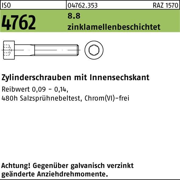 25 verzinkt 8.8 M6 x 100 mm DIN 912 Zylinderschrauben galv Stück