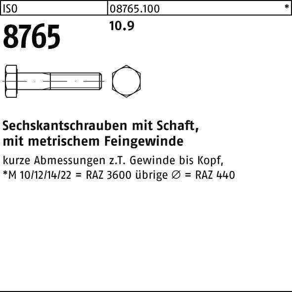 Innensechskant M 16 x 120 10.9 galv verzinkt farb 5x DIN 912 Zylinderschraube