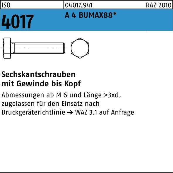 Sechskantschrauben ISO 4017 10.9 M 24 x 150 Inhalt 1 Stück