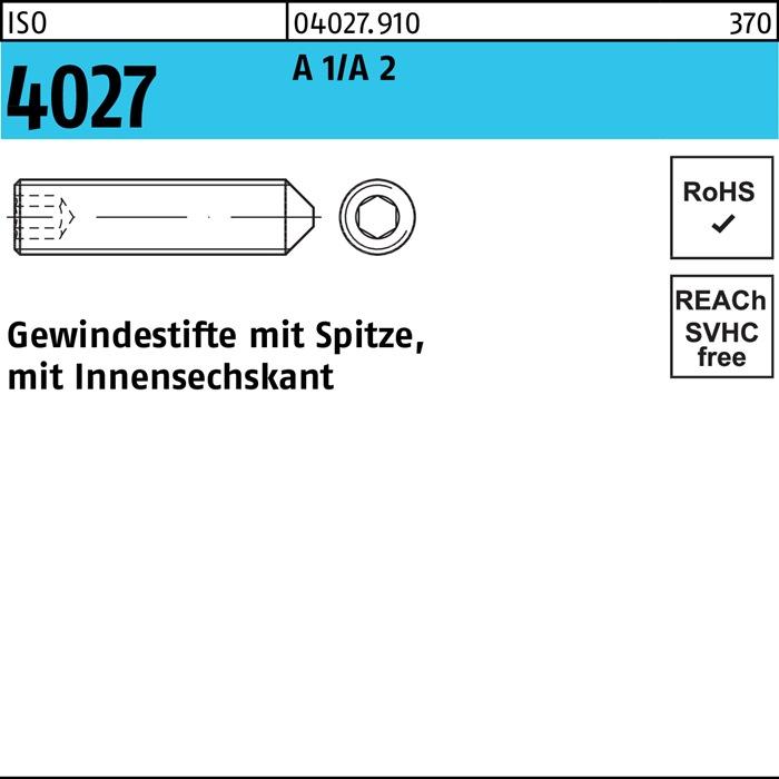 Gewindestifte DIN 913 mit TORX Edelstahl A2 M5 10 Stück Madenschrauben V2A