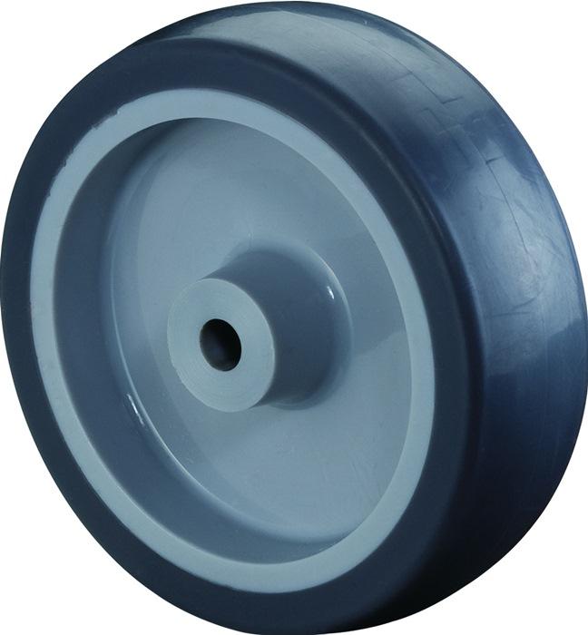 2 Stück Rad 80 mm Gummi Gummibereifung Rollenlager Rad Rollenlager Ersatzrad Rad