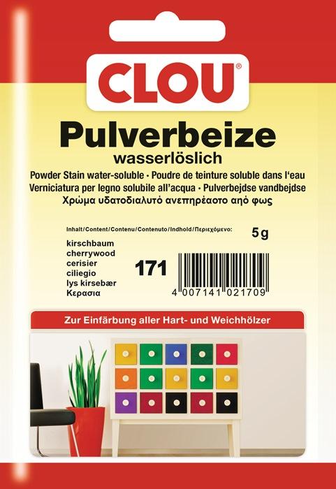 pulverbeize 171 kirschbaum pulver wasserl slich 5g btl clou. Black Bedroom Furniture Sets. Home Design Ideas