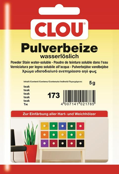 pulverbeize 173 teak pulver wasserl slich 5g btl clou. Black Bedroom Furniture Sets. Home Design Ideas