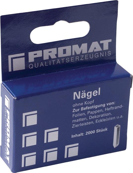 Procof GmbH Nägel L.16mm Draht-B.1,00mm o.Kopf PROMAT Schleifen ...