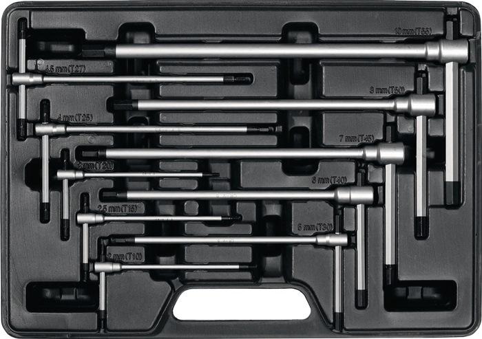 PROMAT  Stiftschlüsselsatz  8-teilig  SW 2-10 Quergriff Seitenabtrie Kugelkopf