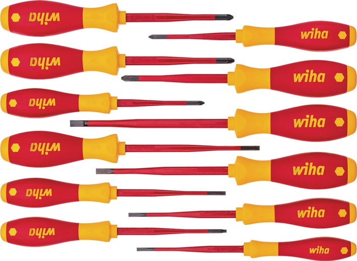 Wiha Werkzeuge GmbH Schraubendrehersatz 3201 K12 12-teilig Schlitz/PH/PZD/TX/(+/- SL/PZD) slim fix 41003