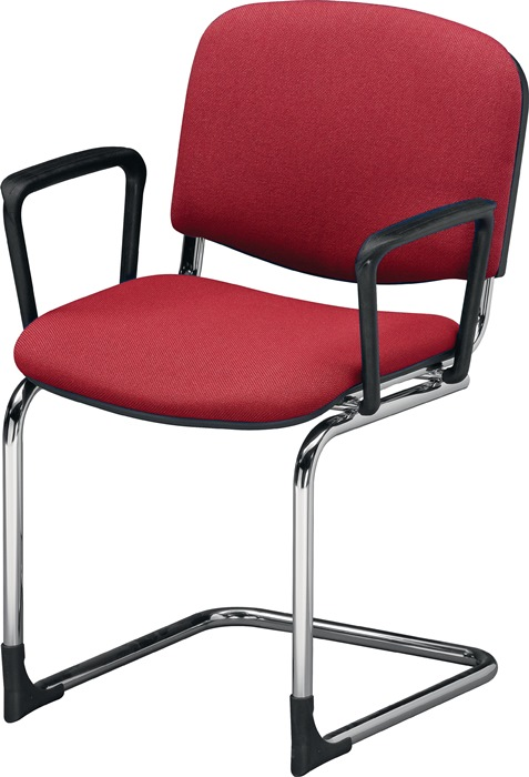 schwingstuhl m armlehnen stoff bordeaux rdrohr. Black Bedroom Furniture Sets. Home Design Ideas