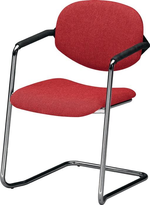 schwingstuhl m armlehnen ummantelt stoff bordeaux rdrohr d. Black Bedroom Furniture Sets. Home Design Ideas