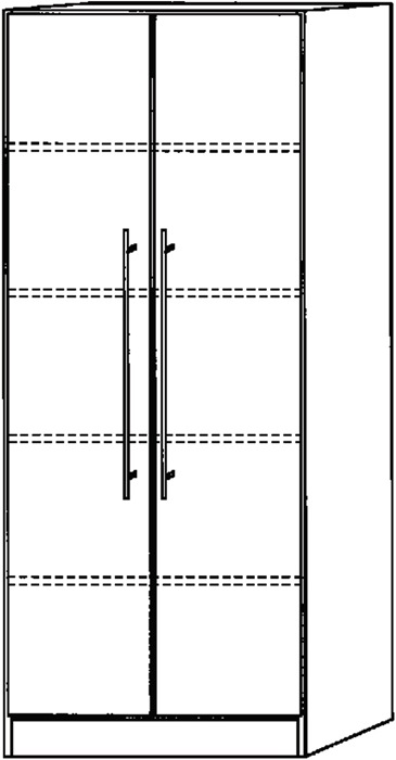 werkzeug j ger gmbh online shop schrank h2004xb800xt420mm ahorndekor 2 t ren stangengriff. Black Bedroom Furniture Sets. Home Design Ideas