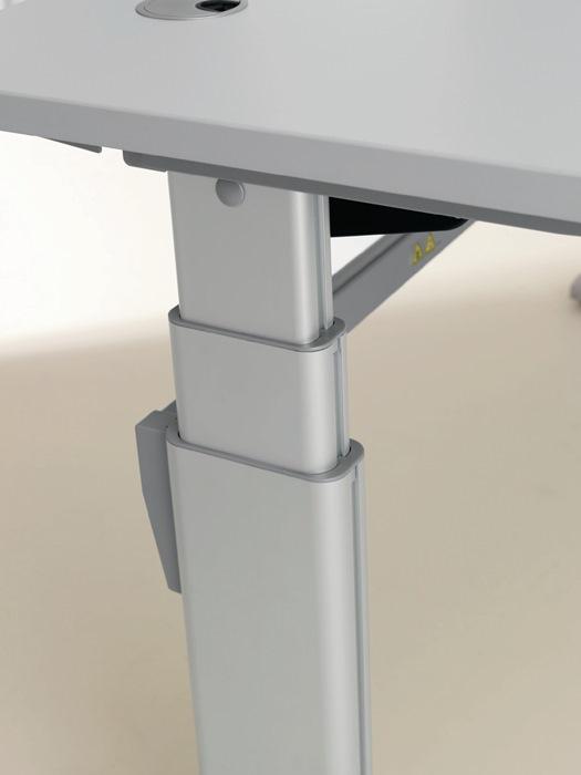 Schreibtisch b1200xh660 1310mm elektrisch verstellbar ahorn for Schreibtisch verstellbar