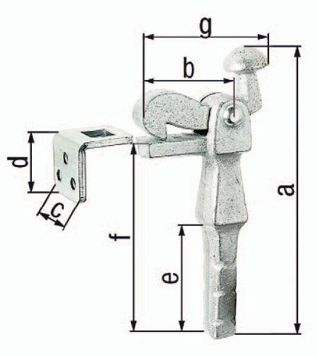 1000 Türfeststeller 005//588//5 Edelstahl matt Bodenmontage für Türbreite max