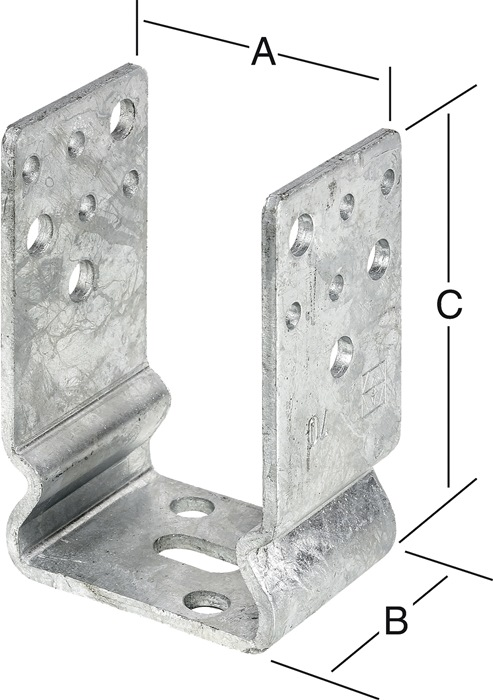 Vormann Heizkörperkonsole Typ I Länge 190mm Breite 45mm Stärke 1,5mm
