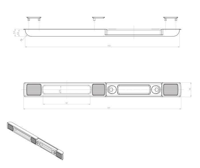 Stahl Rundstange 10 mm Gewindeansatz Set á 2 St f
