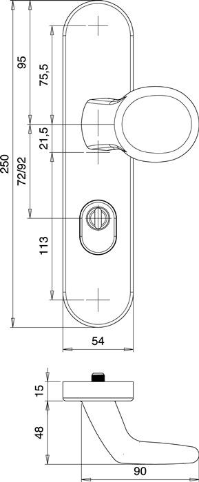 EDI 8745//0272//00 Schutzgarnitur Logo 8745//0272 Edelstahl EST 72 mm 35-45 mm