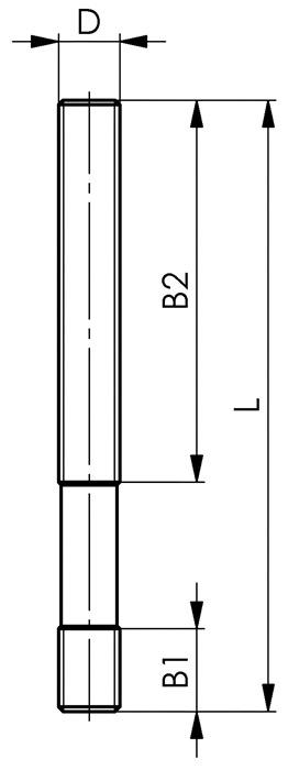 Stiftschraube DIN6379 M16 x 100 verg/ütet auf 8.8 AMF