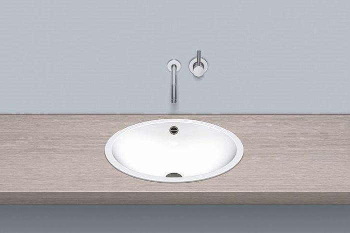 alape einbauwaschbecken eb o525 525 x 425 mm oval wei mit berlauf. Black Bedroom Furniture Sets. Home Design Ideas