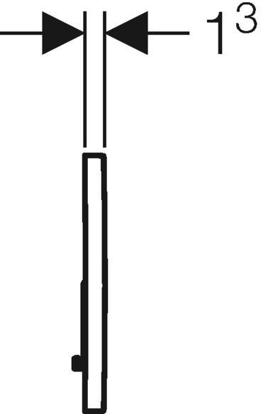 Geberit Betatigungsplatte Sigma01 Fur 2 Mengen Spulung Weiss