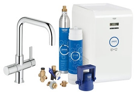 grohe blue starter kit 31324 f r bwt filter u auslauf chrom. Black Bedroom Furniture Sets. Home Design Ideas