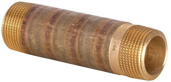 "Rotguss Langnippel 3//4/"" x 120 mm Serie 3530"