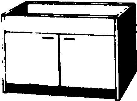 LMB Spülen Unterschrank BM 2 Zerlegt, Ohne Schublade, 2 Türen 1200 X 500 Mm