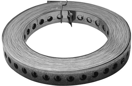kunststoffummantelt 10 Rollen Lochband 19 mm// Stahl